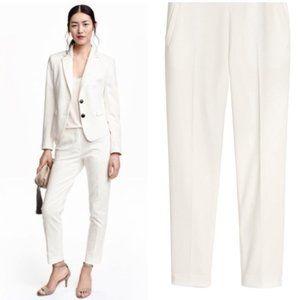 H&M White Dress Slacks Trouser Pants Size 8